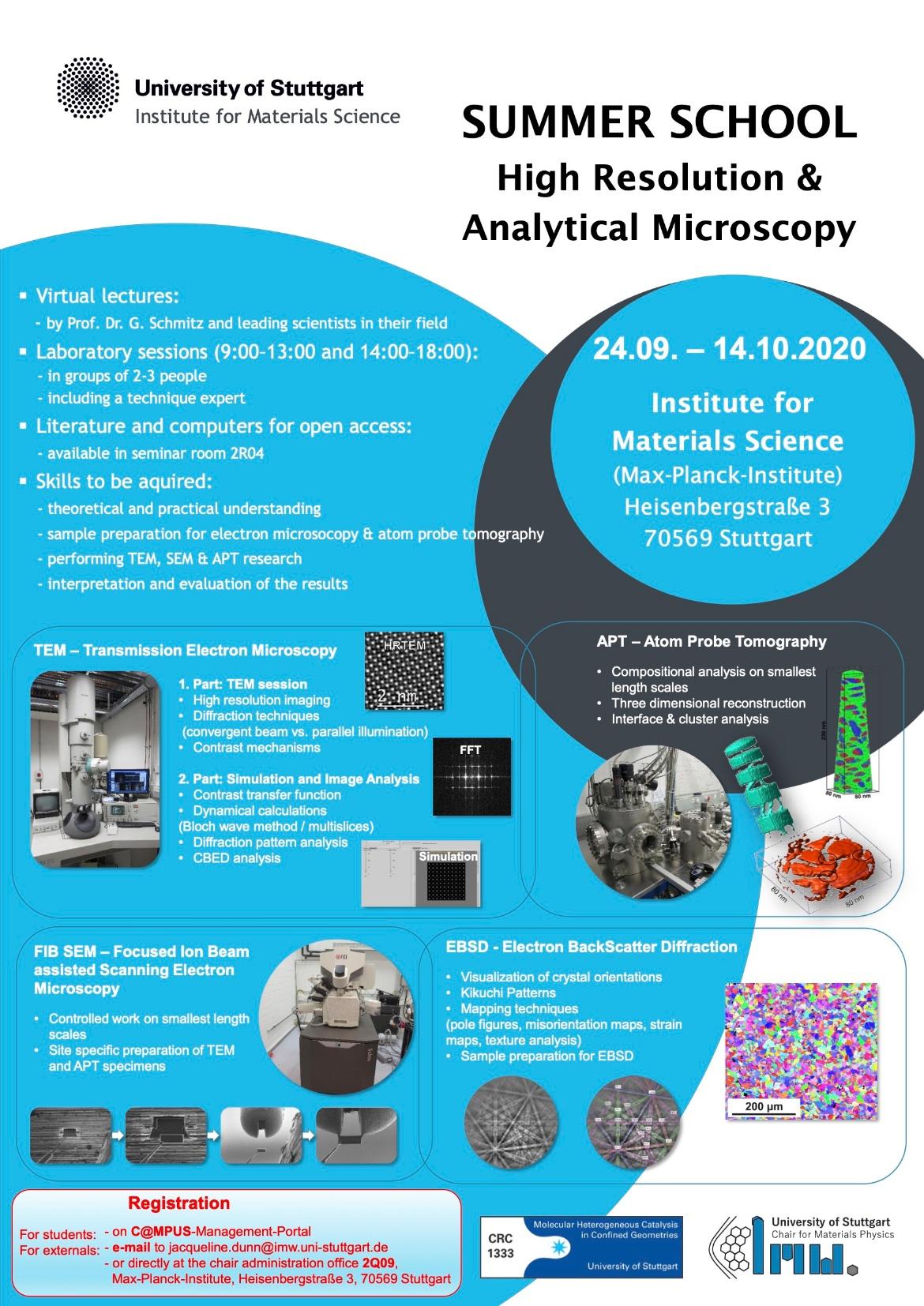 Summer School High Resolution & Analytiocal Microscopy